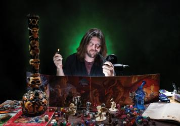STONER QUEST: Brandon McClenahan blends marijuana and magical realms in WeeDnD.
