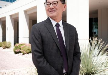 Dr. Lo Fu Tan meditates daily to reduce stress, improve his mood, and better serve patients.