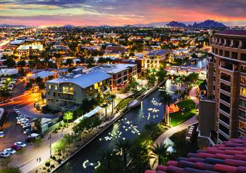 Scottsdale's waterfront canal